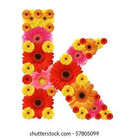 abc, k, flowers