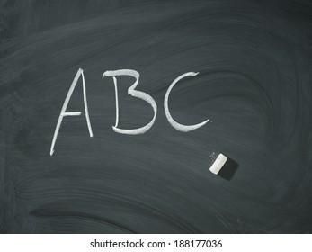ABC letters black white drawn