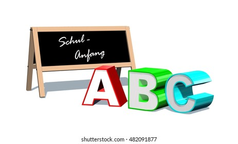 abc - new school year - 3d render