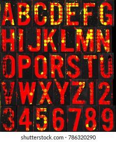 abc typhography alphabet