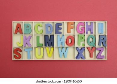 ABCD Colour full word on white background
