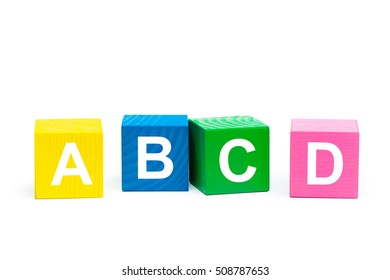 ABCD Concept with wooden block