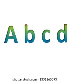 abcd letter, color letters
