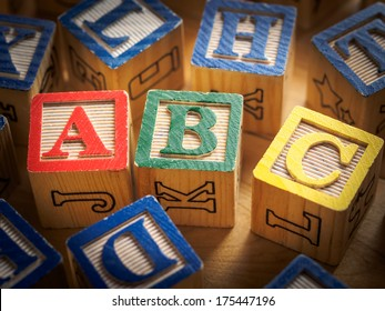 ABC's in blocks