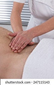 An abdomen massage