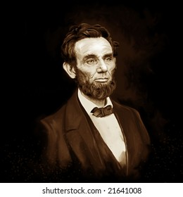 Abe Lincoln painting