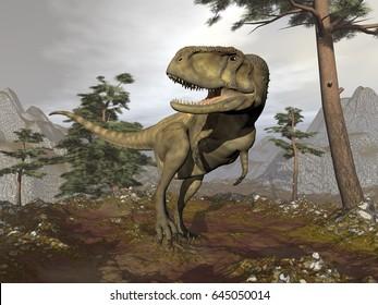 Abelisaurus dinosaur - 3D render