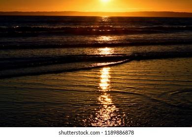 Aberavon Beach at sunset - Autumn Equinox