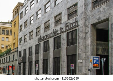 Abercrombie and Fitch Building in City Center of Milan,Italy-March 2016