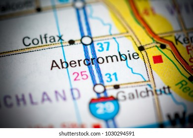 Abercrombie. North Dakota. USA on a map.