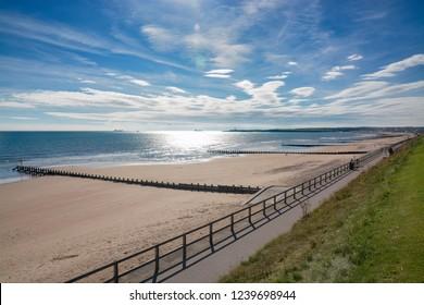 Aberdeen beach on a sunny afternoon