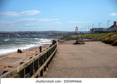 Aberdeen beach and promenade. Scotland, United Kingdom. August 2015
