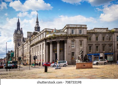 Aberdeen, historic architecture, Town House,  Scotland, Great Britain, 13 July, 2017