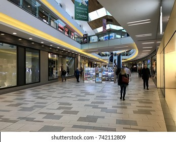 ABERDEEN - OCTOBER 24, 2017: Interior of Union Square shopping centre in Aberdeen, Scotland.