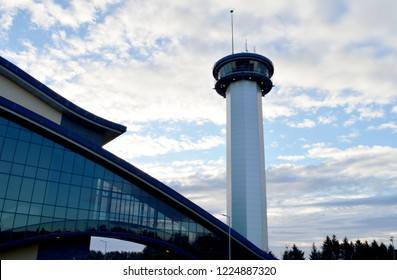 ABERDEEN, SCOTLAND - 31 OCTOBER 2018: The tower at the Aberdeen Exhibition and Conderence Centre, supposedly soon to be demolished for the new facility beside the airport.