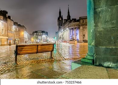 Aberdeen in Scotland at Night