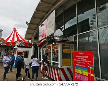 Aberdeen, Scotland, UK - August 11, 2019 : Condonas Amusement Park in Aberdeen, Scotland.
