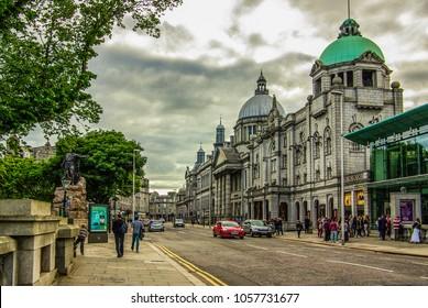 ABERDEEN, SCOTLAND, UK - June, 2013: View of the city