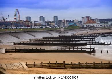 Aberdeen, Scotland / United Kingdom - March 18th 2016: Aberdeen Beach
