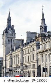 Aberdeen Town House, municipal building, with historic tower on Broad Street