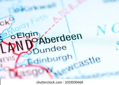 Aberdeen. United Kingdom on a map