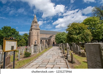 ABERDEEN,SCOTLAND,17 JUNE 2018-Cathedral Church of St Machar, The oldest building in active use in Aberdeen
