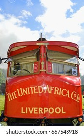 Aberdeenshire, Scotland – June 18, 2017: Commercial transport from a bi-gone era at the Bon Accord Steam Engine Club situated at Castle Fraser