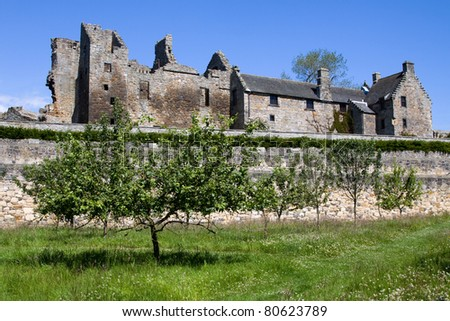 Aberdour Castle in Fife was founded around 1200 and the surrounding picturesque terrace gardens and orchard date to around 1600 making them some of the oldest survivors of their kind in Scotland.