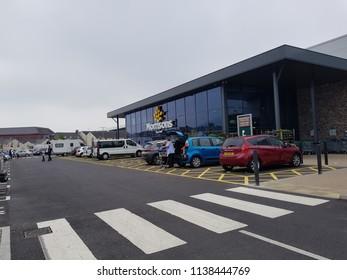 Abergavenny, Monmouthshire / United Kingdom - 05 28 2018: The New Morrisons Store in Abergavenny