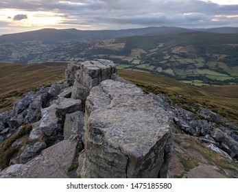 Abergavenny. Monmouthshire. Wales. 8. 6. 2019. Sugar Loaf mountain Black Mountains range Brecon beacons national park