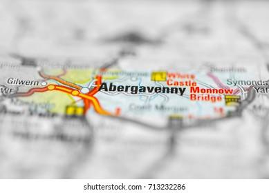 Abergavenny on map.
