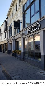 Abergavenny, UK - 09 25 2018: The now closed Prezzo restaurant in Abergavenny