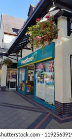 Abergavenny, UK - 09 25 2018: The Poundland Store in Abergavenny Wales, UK