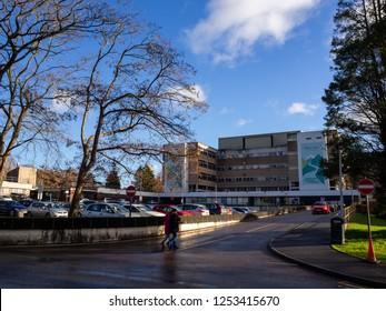 Abergavenny, UK - 12 09 2018: Nevill Hall Hospital in Abergavenny