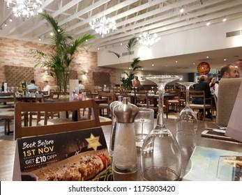 Abergavenny, Wales - 09 29 2017: Prezzo Restaurant (Now Closed)