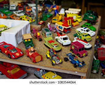Abergavenny, Wales, UK: April 04, 2017: Indoor Market in Abergavenny South Wales
