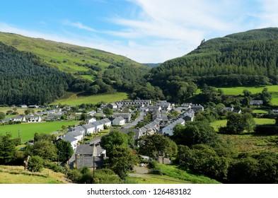 Abergynolwyn village in Snowdonia National Park Gwynedd Wales.