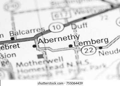 Abernethy. Canada on a map.