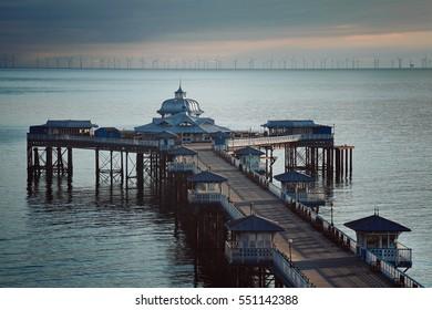 Aberystwyth beautiful victorian pier . Northern Wales