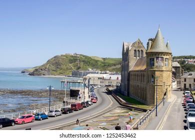 Aberystwyth old college. Resort in Wales, United Kingdom