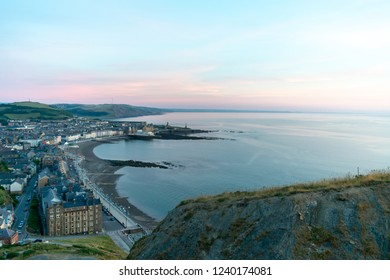 Aberystwyth Seafront taken from Constitution Hill near Sunset