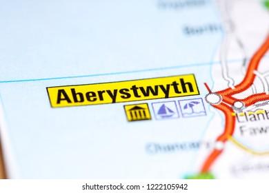 Aberystwyth. United Kingdom on a map