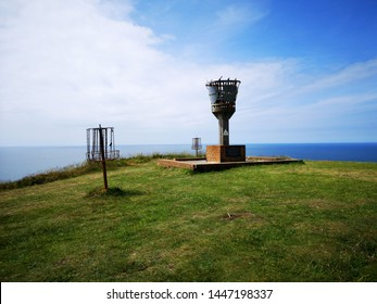 Aberystwyth, Wales, UK: July 07, 2019: The beacon was originally installed to mark the millennium on 1 January 2000 but it was also lit for the Queen's Diamond Jubilee celebrations in 2012.