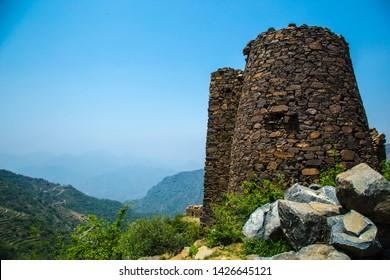 abha jizan fayfa mountain hanging village