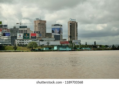 Abidjan city from the Lagoon, 27 September 2018, Ivory Coast