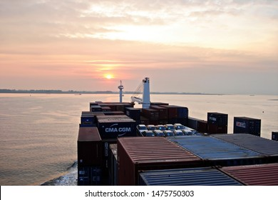 Abidjan & San Pedro,Ivory Coast, 15,May,2007. Ro-Ro is a specialized vessel for transporting vehicles and containers in the W/Africa ports.
