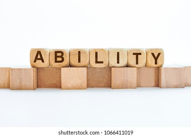 ABILITY word on block
