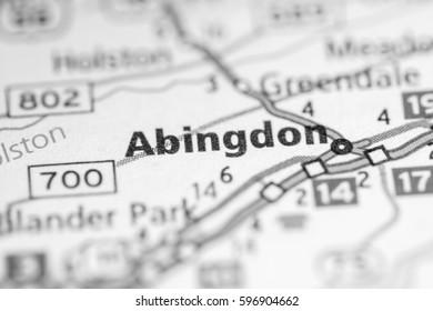 Abingdon Virginia Map.Abingdon Virginia Usa Stock Photo Edit Now 596904677 Shutterstock