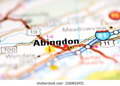 Abingdon Virginia Map.Abingdon Virginia Usa Stock Photo Edit Now 596903996 Shutterstock