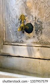 Ablution facilities, ramadan fountain Interior of the Sultan Ahmed Mosque Istanbul, Turkey. A popular tourist site Blue Mosque Islamic architecture ramadan.